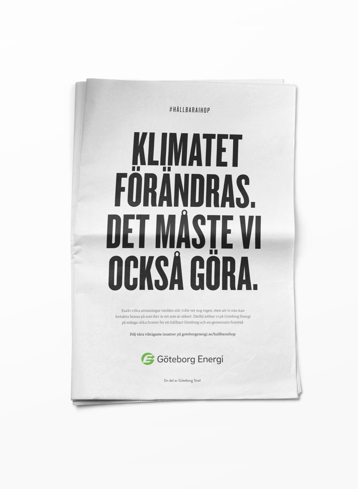 Göteborg Energi Annons